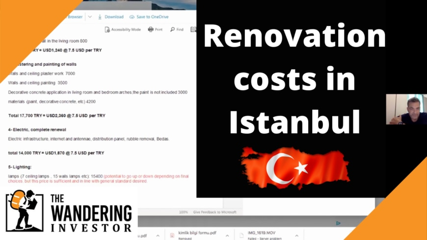 real estate renovation costs istanbul